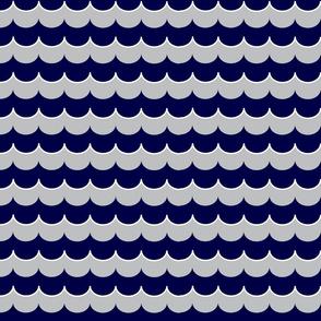 Nautical Coord- Scallops Navy 2
