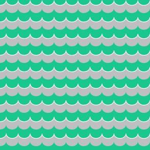 Nautical Coord- Scallops Cyan 2
