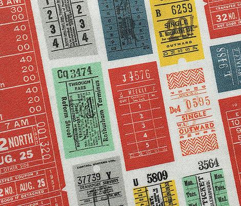 Ticket to Ride (Custom Red) || vintage ephemera bus train subway tickets uk Europe London British
