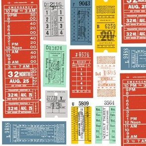 Ticket to Ride (Custom Red) || vintage ephemera bus train subway tickets uk Europe London British