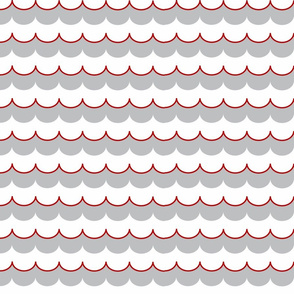 Nautical Coord - Scallops Red