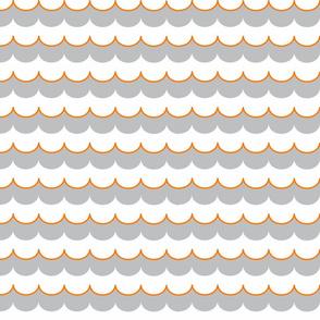 Nautical Coord- Scallops Orange