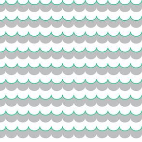 Nautical Coord - Scallops Cyan