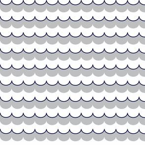 Nautical Coord - Scallops Navy