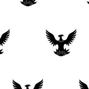 Argent, a Phoenix Sable