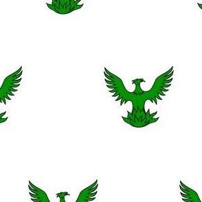Argent, a Phoenix Vert