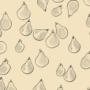 Wheat Pears Monochrome