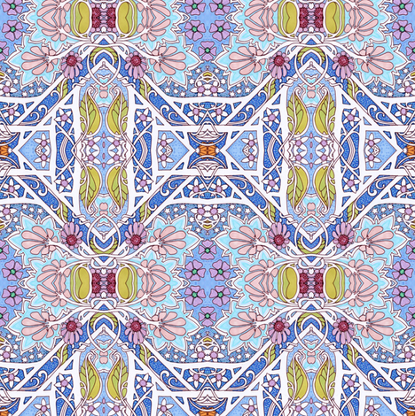 Geometry of a Warm Spring Day fabric by edsel2084 on Spoonflower - custom fabric