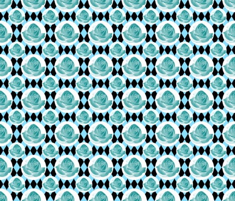 Teal Rose Fabric 11 fabric by cmay_designs on Spoonflower - custom fabric
