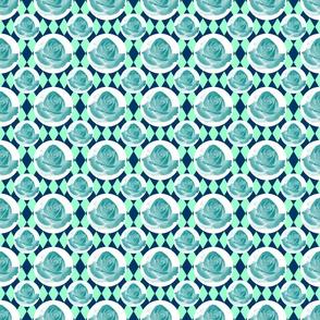Teal Rose Fabric 13