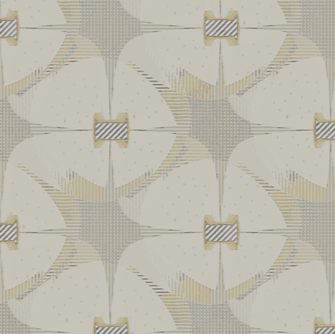 Canterbury (Taupe) fabric by david_kent_collections on Spoonflower - custom fabric