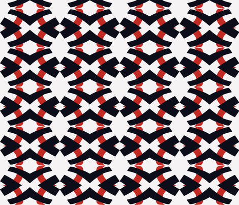 Black and White and Red all Over, Alt 1 - larger fabric by susaninparis on Spoonflower - custom fabric