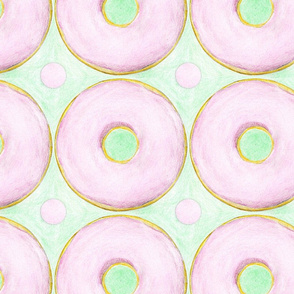 Hand Colored Donut Polka Dot by Jess Csanky