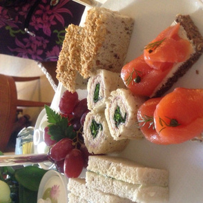 Tea sandwiches smoke salmon