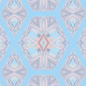 Pasel Blue and Pink Jewels Geometric