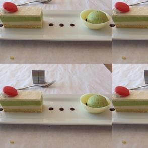 Rectangle green tea layer cake