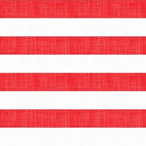 USA Linen Red White Stripes