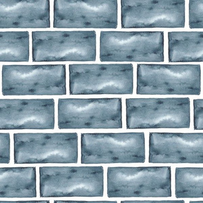 Watercolor brick wall