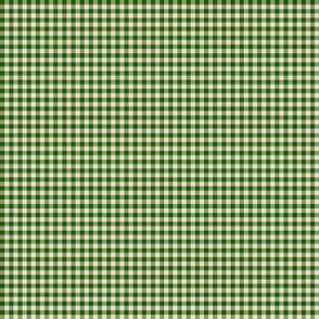 Quarter Inch Dark Green Gingham
