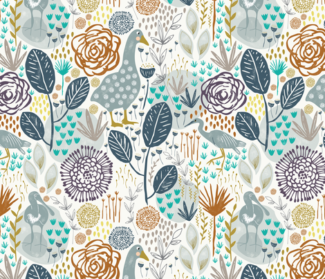 Lake Alexandra fabric by melarmstrongdesign on Spoonflower - custom fabric