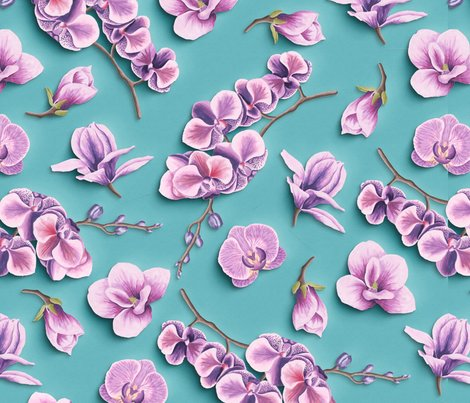 Orchids-papercut_effect_patternsd_shop_preview