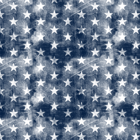 (small scale) distressed stars on navy fabric by littlearrowdesign on Spoonflower - custom fabric