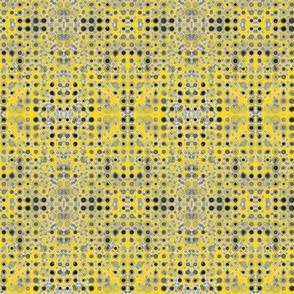 Dancing Dots and Spots of Grey on Daffodil Yellow