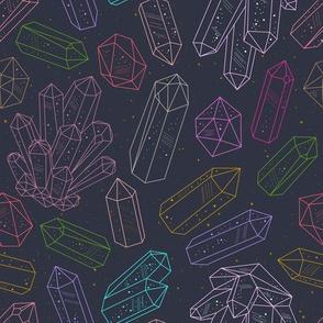 Crystals sketch