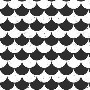 Fish scale black and white