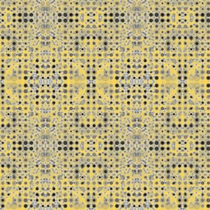 Dancing Dots and Spots of Grey on Pineapple Passion