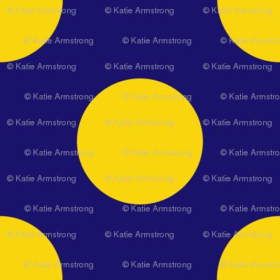 Royal Blue and Yellow Polka Dot