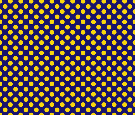 Royal Blue and Yellow Polka Dot fabric by katiecraftymom on Spoonflower - custom fabric
