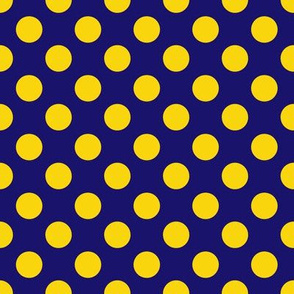 Royal Blue and Yellow Polka Dot