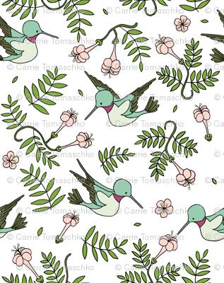Hummingbird Garden // by Sweet Melody Designs