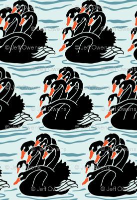 Seven Headed Black Swan