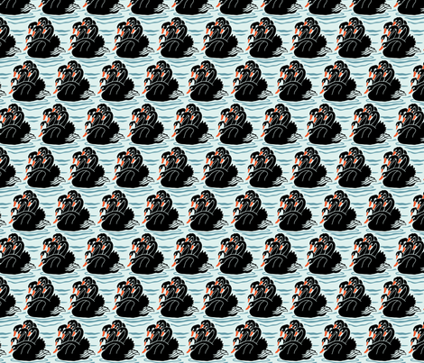 Seven Headed Black Swan fabric by jto on Spoonflower - custom fabric