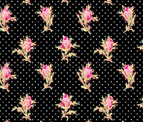 Melbourne Rose  ~ Forbidden  fabric by peacoquettedesigns on Spoonflower - custom fabric