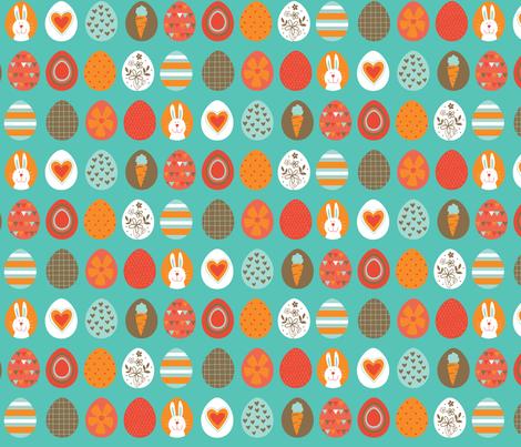 Easter Eggs fabric by lisa_kubenez on Spoonflower - custom fabric