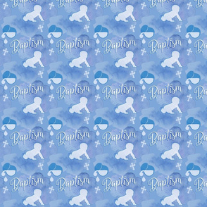 Blue baptism fabric