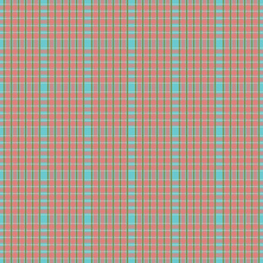 meadow teal plaid