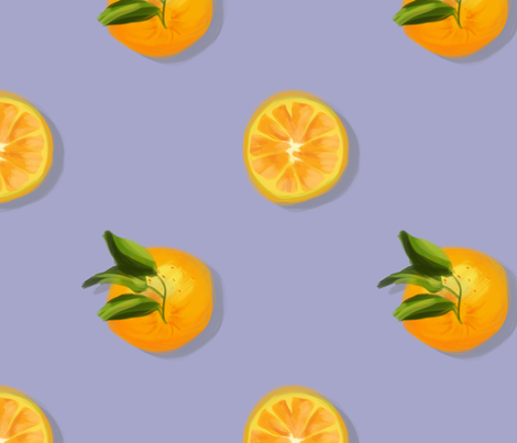Oranges fabric by allhaildesign on Spoonflower - custom fabric