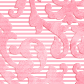 Pink Damask Oversize