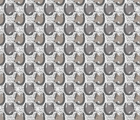 Xoloitzcuintli horseshoe portraits - small fabric by rusticcorgi on Spoonflower - custom fabric