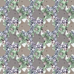 Floral Xoloitzcuintli portraits