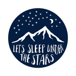 2 Yard cut - Let's Sleep Under the Stars (navy)