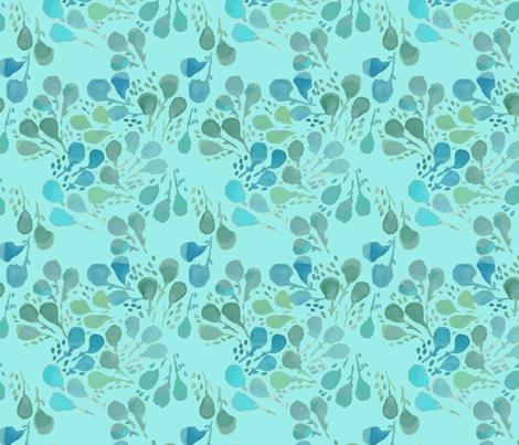 Kelp_Light_Teal fabric by nrink on Spoonflower - custom fabric