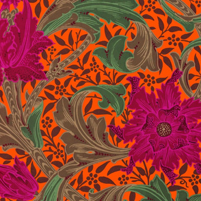 William Morris ~ Single Stem  ~ Jungle on Marquise
