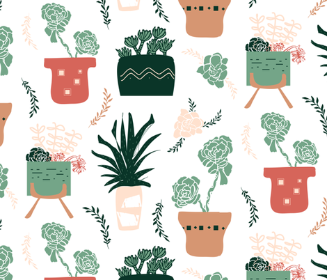 Succulents Fun! fabric by pixabo on Spoonflower - custom fabric