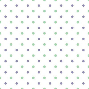 ABC Polka Dot White