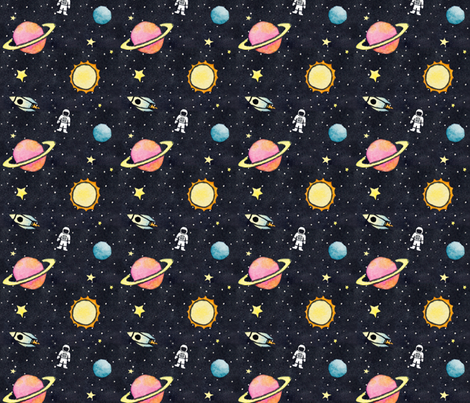 SpaceQuest fabric by louandmoss on Spoonflower - custom fabric